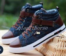 Fashion Mens Jeans Shoes Casual Canvas lace up High-Top Stone-Washed Sneakers