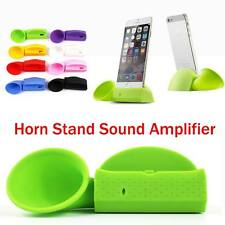 Portable Silicone Horn Stand Audio Dock Amplifier Speaker For iPhone 6S & 6 Plus