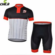 CHEJI Red Men Bicycle Pad Bib Shorts Cycling Wear Jersey Sets Outdoor Bike Wear