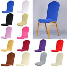 Universal Stretch Dining Room Semicircle Chair Cover Slipcover Wedding Banquet