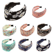 Party Work Floral Flower Festival Wide Headband Hair Band Alice Band for Girls