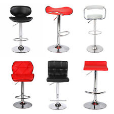 4X PU Leather Various Size Bar Stools Kitchen Gas Lift Red Brown Black White
