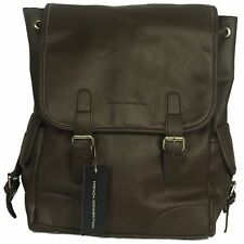 MENS BRAND NEW FRENCH CONNECTION LEATHER RUCKSACK BAG IN BROWN COLOUR