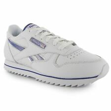 Reebok Classic Etched Shoes Trainers Womens White/Purp/Silv Sneakers