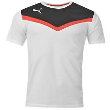 Puma BTS Polyester T-Shirt Juniors White/Black Football Soccer