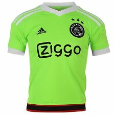 Adidas AFC Ajax Away Jersey 2015 2016 Juniors Green/White Football Soccer Club