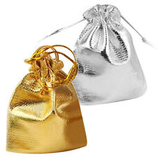 25pcs Drawstring Organza Favour Wedding Candy Gift Pouch Bags Silver WD