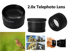 Z6 2X TELE telephoto Converter Lens 52mm for Digital Camera Camcorder Lenses