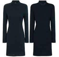 Womens Ladies Bodycon Dress Casual Party Sexy Long Sleeves Evening Cocktail Midi