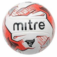 Mitre Max Professional Quality Football White/Red/Black Soccer Ball