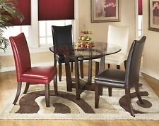 Charrell Brown Ivory Red Black Side Chairs Set of 4 Dining Room Dining Chair Set