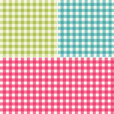 Tea Party Gingham Check Squares 100% Cotton Patchwork Fabric (Makower)