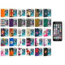 For Apple iPhone 6 (4.7) Design TPU Case Cover+Anti Glare Screen Protector