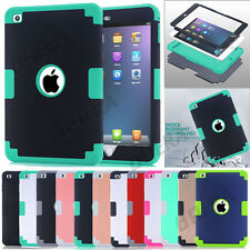 New Hybrid Soft Silicone Shockproof Tough Combo Case Skin For iPad mini 1 2 3 4
