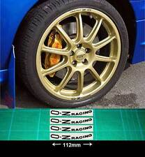 Wheel Rim Decal stickers to fit OZ Racing curved up from the bottom of rim X4