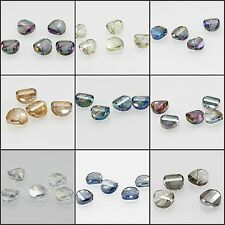15mm/5pcs Faceted Glass Crystal Loose Spacer Teardrop Irregular Charm Beads