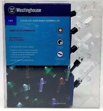 LED Multi-colored Solar Umbrella Lights Intricate Cross Design Westinghouse New