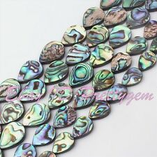 Teardrop Natural Multicolor Abalone Shell Gemstone Spacer Beads Strand 15""