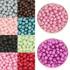 Dia.6mm Round Bulk Beads Faux Pearl Acrylic Jewelery Bracelet DIY Making Craft