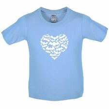 Love Heart Bats - Kids / Childrens T-Shirt - Heart Shape / Silhouette-10 Colours