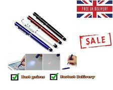 4in1 Red Laser Pointer Ballpoint Pen LED Flashlight Torch Touch Screen Style