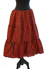 Steampunk-Victorian-Edwardian-Gothic-BLACK & RED STRIPE PETTICOAT Plus Sizes