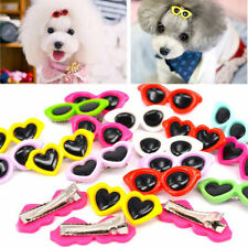 10 PCS Pet Dog Hair Bows Pet Sunglasses Hair Clips Doggie Boutique Groomings