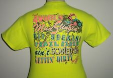 American Girl ADULT 4wheelin' safety green Tee shirt for A southern girlie girl