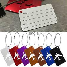 Aluminium Travel Luggage Baggage Tag Suitcase Bag ID Buckle Address Label Holder