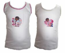 Disney Princess Girls 4 Pack White Vests Age 18 Months-6 Years