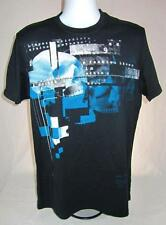 Mens new size medium Marc Ecko Cut & Sew shirt Checkered Past black nwt