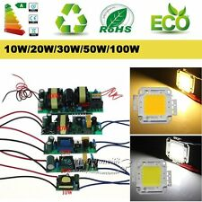 High Power 10W 20W 30W 50W 100W LED Driver Supply RGB LED Chip Light Lamp Bulb