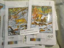Hudemas Wolf OR Panther Petit Point KIT Your Choice-15x20 cm (6x8 Inches)