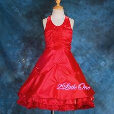 Halter Pageant Dress Wedding Flower Girl Party Formal Occasion Size 18m-9 #103