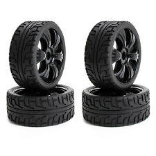 4PCS 1:8 Off-Road RC Car Buggy Tyres 17mm Hub Black RC Wheels Rims and Tires