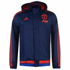 Adidas Manchester United FC Away Jacket Coat Mens Blue/Scarlet Football Soccer