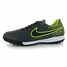 Nike Tiempo Legacy Astro Turf Football Trainers Mens Black/Volt Soccer Shoes