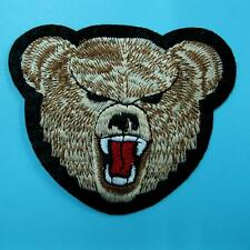 Bear Grizzly Iron Sew on Patch Applique Badge Embroidered Wild Animal Biker Cute