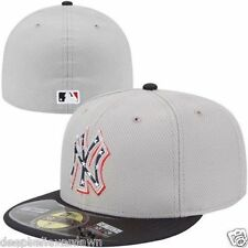 NEW YORK YANKEES MLB JULY 4TH ON FIELD NEW ERA GRAY/NAVY FITTED HAT/CAP NWT