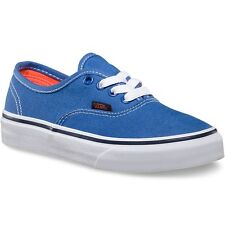 VANS KIDS AUTHENTIC POP STRONG BLUE NASTURTIUM YOUTH CASUAL SHOES CLEARANCE