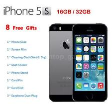 "Apple Smart Phone iPhone 5S 4G LTE Factory Unlocked 4"" 32GB/16GB Grey K6W0"