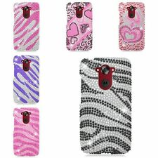 Luxury Diamond Bling Glitter Hard Back Cover Case For Motorola Droid Turbo