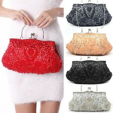 Lady Clutch Wedding Handbag Ring Pearl Sequins Evening Party Bag Purse Hot