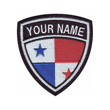 PANAMA CUSTOM CREST FLAG NAME EMBROIDERED PATCH