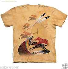 Native Horse Vision Quest Tribal T-Shirt/Pictoglyph,Native Art,Tie Dye Tee