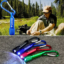 Portable Handy Mini LED Flashlight camping Light Lamp Carabiner Keychain Torch