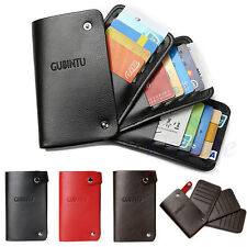 Men Woman Slim ID Credit Card PU Leather Trifold Holder Case Pocket Purse Wallet