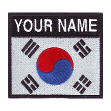 SOUTH KOREA BADGE CUSTOM FLAG EMBROIDERED PATCH