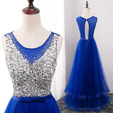 New Long Tulle Bridesmaid Formal Gown Ball Party Cocktail Evening Prom Dress