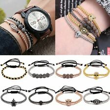 Charm Men's Women's Beads Balls Braided Macrame Bracelet Wrap Fashion Handmade
